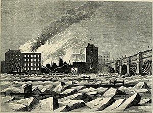 Timeline of London - The frozen Thames illustrated in Old and New London (1873)