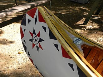Old Town Canoe - Old Town design no.4 on 1934 HW model wood-canvas canoe
