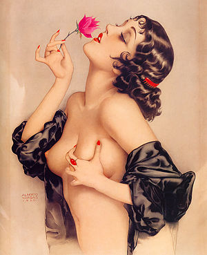 Alberto Vargas - Memories of Olive portrays actress Olive Thomas (1920).