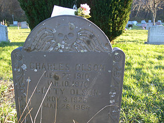 Charles Olson - Gravestone of Charles and Betty Olson, Beechbrook Cemetery, Gloucester, Massachusetts