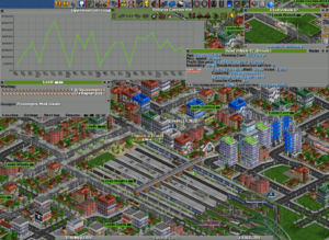 Construction and management simulation -  An example of a windowed interface from the game OpenTTD