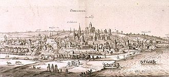 Capture of Oppenheim - View of Oppenheim by Joannes Janssonius.
