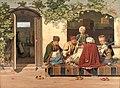 Orientalere ved et parti skak uden for et tyrkisk kaffehus og barberstue, KMS495.jpg