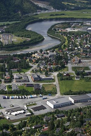 Orkdal - Orkanger with the Orkla river