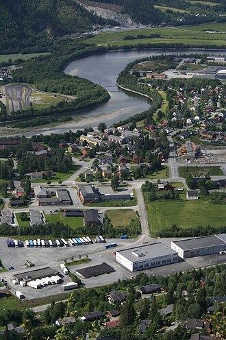 Orkdal - Orkanger with the Orkla river
