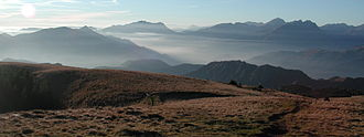 Bergamasque Alps - Panorama of the Bergamasque Alps from Val Seriana