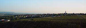 Neckarwestheim - Image: Ortsansicht Neckarwestheim vom Burgfried Liebenstein