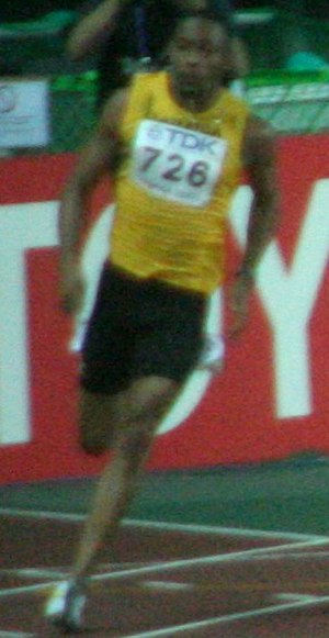 Christopher Williams (sprinter) - Image: Osaka 07 D6A M200M final race 2