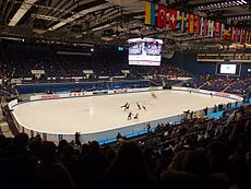 Ostravar Arena in Ostrava, Eistanz Warm-up