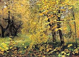 Картинки русский лес осенью