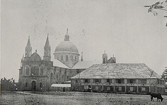 Iloilo - Old Cathedral in Oton. Consecrated 1891, destroyed by earthquake 24. Jan. 1948.