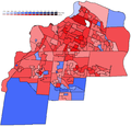 Ottawa South 2011 results by poll map.png