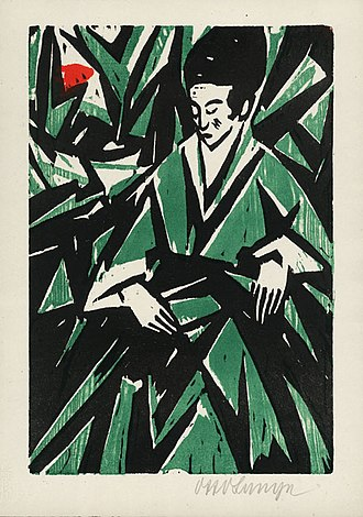 Otto Lange - Image: Otto Lange Dame in Gruen 1918