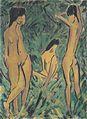 Otto Mueller - Knabe vor zwei stehenden und einem sitzenden Mädchen - ca1918.jpeg