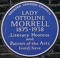 Ottoline Morrell 10 Gower Street blue plaque.jpg