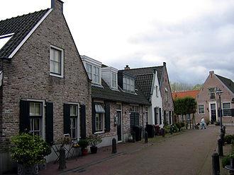 Diemen - Street in Diemen with recreated traditional houses in 2004