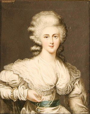 Robert Child (Wells MP) - Child's runaway daughter Sarah Anne, as painted in miniature in 1786