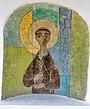 Nischen-Malerei des hl. Antonius an einem Bildstock in Winklern, Kärnten