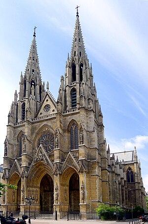 Sainte-Clotilde, Paris - The west front of the church