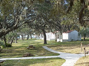 National Register of Historic Places listings in Bay County, Florida - Image: PC Beach Camp Helen SP04