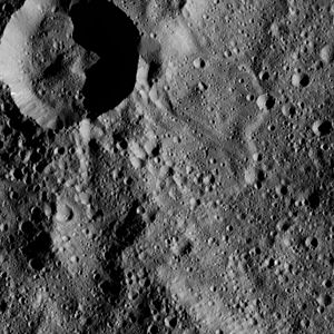 Annona (crater) - Annona is on the top left of the photo