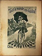 Affiche Cycles Petit-Bourg, faisant la réclame pour Decauville, 1894