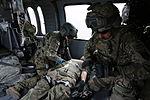 PRT Farah conducts medical evacuation training with Charlie Co., 2-211th Aviation Regiment at Forward Operating Base Farah 130109-N-IE116-316.jpg