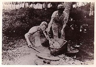 American mutilation of Japanese war dead - Skull stewing