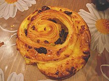 French style pain aux raisins