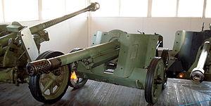 7.5 cm Pak 97/38 - Pak 97/38 in Finnish Tank Museum (Panssarimuseo) in Parola
