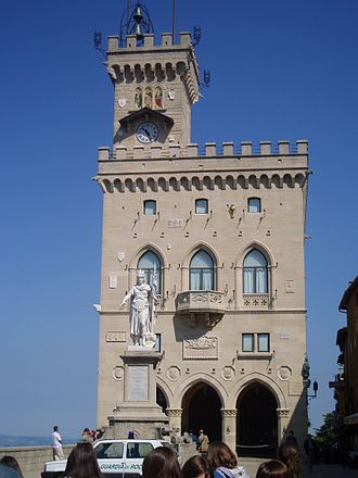 Tourism in San Marino - The Palazzo Pubblico at daytime