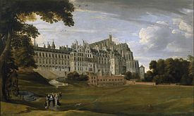 The Palace of Coudenberg from a 17th-century painting. Brussels served as the Imperial capital of Charles V in the Holy Roman Empire.[21][22] (Source: Wikimedia)