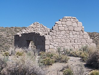 Esmeralda County, Nevada - An abandoned building in Palmetto, an Esmeralda County ghost town