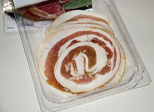 Packaged Pancetta.
