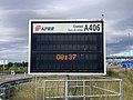 Panneau lumineux Gare Péage Crottet Autoroute A406 Crottet 2.jpg
