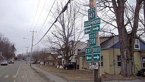 Compton, Quebec - Image: Panneau routier a Compton panoramio