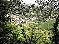 Panorama depuis la base du donjon de l'ancien château médiéval.jpg