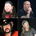 Med klokken: Phil Anselmo, Rex Brown, Vinnie Paul, og Dimebag Darrell
