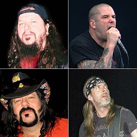 Phil Anselmo, Vinnie Paul, Dimebag Darrell și Rex Brown
