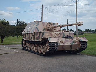 Hybrid electric vehicle - Porsche's Elefant tank destroyer, restored for museum display
