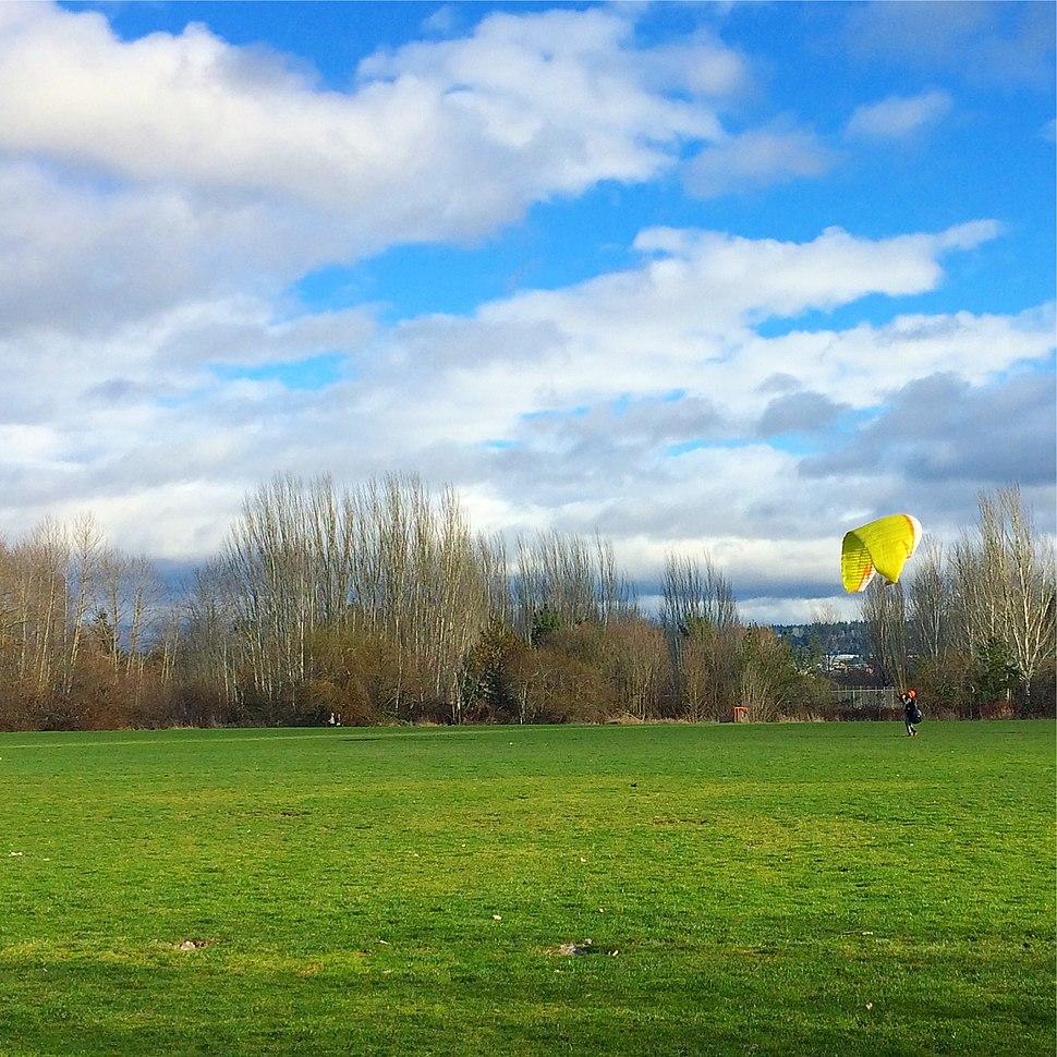 Parachute Practice at Magnuson Park in Seattle