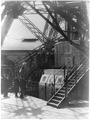 Paris Exposition; steps to the first stage of the Eiffel Tower, Paris Exhibition 1889 LCCN2002723526.tif
