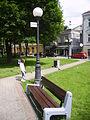 Park trash bins in Białystok.JPG