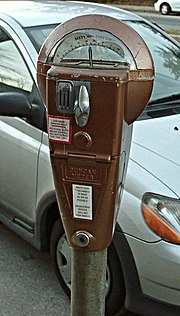 A traditional style parking meter