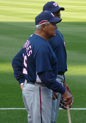 Pat Corrales - Corrales with the Nationals in 2008