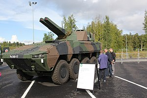Patria AMV - Finnish AMV with AMOS mortar turret