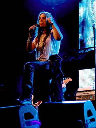 Punk literature - Punk poet Patti Smith performing at Primavera Sound Festival, Barcelona.