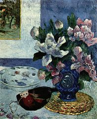Still Life with Chinese Peonies and Mandoline
