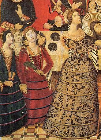 Farthingale - Image: Pedro García de Benabarre St John Retable Detail