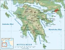 Karte Griechenland Peloponnes.Peloponnes Wikipedia
